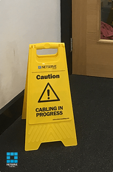Caution Cabling In Progress